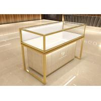 Buy cheap Luxurious golden jewelry display showcase fashion jewelry shop decoration design with display cabinet product