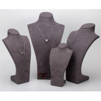 Buy cheap Pendant Resin Display Stand , Gray 5  Pcs / Set Suede Jewelry Stand from wholesalers