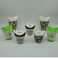 Buy cheap Exquisite Printing Biodegradable Paper Cups Space Saving Flat Transportation product