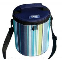 Buy cheap Cylindric Insulated Cooler Bags , Portable Wine Cooler Bag Top Round Zipper product