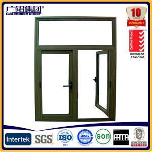 Buy cheap Australia style aluminum double glass outside opening casement window product