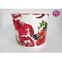 70oz Custom Logo Printed Paper Popcorn Buckets For Popcorn / Shrimp