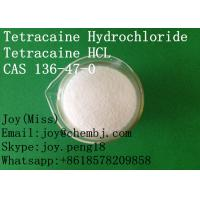 China USP High Purity Tetracaine Hydrochloride/HCL CAS 136-47-0 Local Anesthetic API Pain Relief wholesale