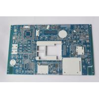 Buy cheap Custom PCB circuit board manufacturer PCB Assembly Prototype Blue soldmask white silkscreen product