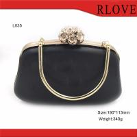 Quality Bag part accessories gold metal flower lock purse plastic Box metal frame for sale