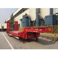 Buy cheap Loading Construction Machines Hydraulic Flatbed Trailer 3 Axles 80 Tons 17m product