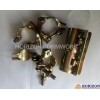 Buy cheap Galvanized Yellow Scaffolding Accessories Couplers EN74 Dia 48.3x48.3mm BS Marked product