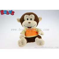 Buy cheap Plush Stuffed Baby Monkey Toy With Embroidery Smile Face and T-Shirt product