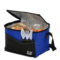 Buy cheap Blue Waterproof Insulated Cooler Bags , Thermal Lunch Bag Polyester 40*30*30cm product