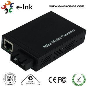 E- Liez le convertisseur 10/100/1000Mbps de médias d'Ethernet de fibre de Sc de mode unitaire