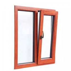Buy cheap Sandalwood Tilt And Turn Aluminium Windows Flucarbon With Mosquito Net product