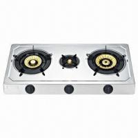 Buy cheap 3-burner Stainless Steel Gas/Table Stove with Electronic Ignition from wholesalers