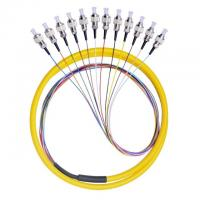 Buy cheap 12 Core FC / UPC Fiber Optic Pigtail 12 Color Fan Out Fiber Pigtail With LSZH Cable product