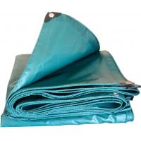 Buy cheap Green 350gsm PVC Tarpaulin Fabric For Truck / Cargo Cover , Anti - Oxidation product