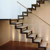Buy cheap Modern Design Zig Zag Staircase Beam Double Stringer Straight Staircase product