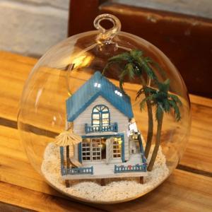 China DIY Wooden Dollhouse DIY Mini House Dollhouse Miniature-(B-002) on sale