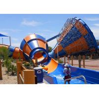 Buy cheap Beautiful Tornado Water Slide Maximum Speed 12.7m/S With 2.6m Slide Wide product