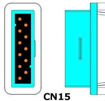 GE Marquette 2021406-001 spo2 adapter cable, used with Nellcor oximax sensor