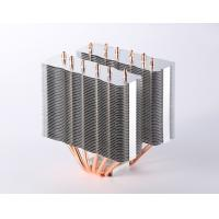Buy cheap High efficient Computer CPU Heatsink / Copper Pipe Heat Sink with Skiving Fin product