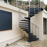 Buy cheap Durable Outdoor Galvanized Metal Spiral Staircase Prefabricated Stairs product