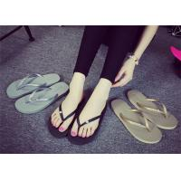 Buy cheap Latest  Shower Flip Flops , Female Flip Flops Shoes With Rhinestone / Metal Logo product