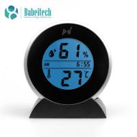 Buy cheap MIEO Round Digital Hygrometer Thermometer for Humidor HH654 with Clock product