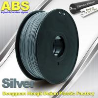 Buy cheap High strength ABS 3d Printer Filament 1.75mm Silver Filament Materials product