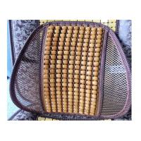 Buy cheap Yellow Beads Wooden Car Seat Back Support / Lumbar Car Seat Cushion 41*41cm product