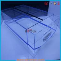 Buy cheap high quality plexiglass shoe box for package,wholesale custom clear acrylic shoe box hupbox sneaker display box product