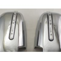 Quality Pair Silver Side Door Mirror Cover With LED Signal Light For Mitsubishi Triton for sale