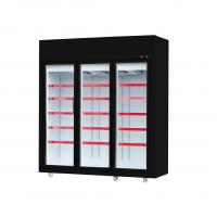 China 50 / 60hz Glass Door Freezer With Five Layers Shelves For Frozen Sea Food on sale