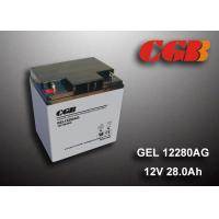 Buy cheap 12V 28AH Gel Lead Acid Battery , EPS Vrla Rechargeable Battery Non Spillable product