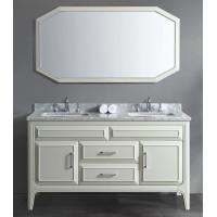 Buy cheap White Gloss Bathroom Vanity Cabinets Floor Mounted Classic Style 60′′x22′′x34′′ product