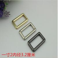 Buy cheap Wholesale bag hardware 32 mm gold zinc alloy metal adjustable square buckle for bag product