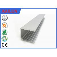 Buy cheap Powder Coating Aluminium U Channel Extrusion Profiles For Building Curtain Glass Wall product