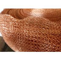 Buy cheap Purple Copper Wire Mesh Customized 4 Line Wire Knitted Netting 10cm Width product