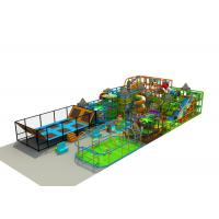 Large Indoor Play Structures / Indoor Playground Set With Soccer Playing Area And Trampoline