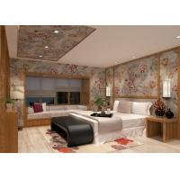 Buy cheap Embossed Silver Retro Vintage Style Wallpaper Floral Pattern For Living Rooms product