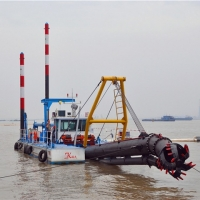 Buy cheap 20 Inch 1342Kw Gold Dredge Boat 45m River Dredging Machine product