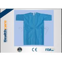 China Free Sample Disposable Isolation Gowns Lightweight Non Woven Gown With Elastic Cuff on sale