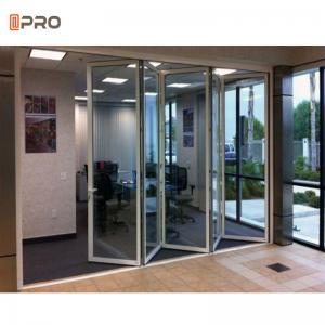Buy cheap Aluminum Luxury Steel Glass Folding Door Accordion Glass Patio Doors product