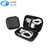 Best Sale Portable Black Storage EVA Earbud Case Hard Portable Bag and USB Cables Case EVA Earphone Case for sale