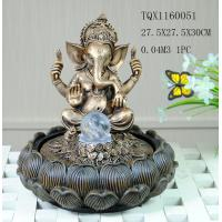 Indian Polyresin Water Fountain With Revolving Ball , Electricity Pump Power