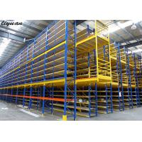China Warehouse Storage Mezzanine Racking System Powder Coated Surface Stable on sale