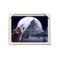 Buy cheap CMYK 3D Wolves Image Lenticular 3d Pictures PS Frame For Office Decoration product