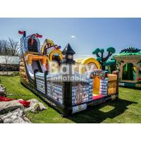 China Commercial Kingdom Pirates Slide Inflatable Blow Up Obstacle Course With Bouncer wholesale
