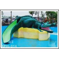 Buy cheap Water Park Equipment Crocodile Slide , Small Water Pool Slides For Kids product