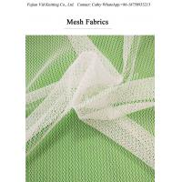 China White Mesh fabric  Polyester / Nylon for lady garments on sale