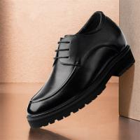 Taller men 12cm height increasing elevator leather shoes