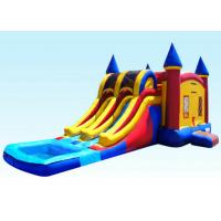 Buy cheap 29Ft Dual Lane Inflatable Castle Combo For Kids 29L x 13W x 14H product